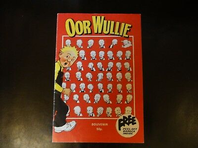 Oor Wullie Souvenir Programme with Stickers Overground Theatre