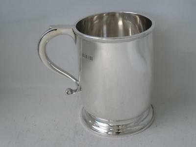 Solid Sterling Silver 1/2 Pint Mug/ Cup/ Tankard 1920/ H 9 cm/ 185 g