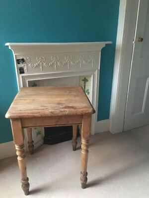 Antique Pine Table Country Kitchen Table Small Desk Shabby Chic Rustic