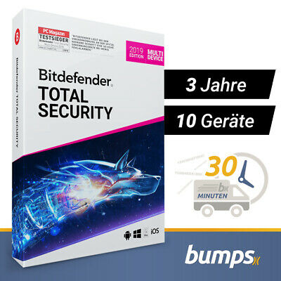 Bitdefender Total Security Multi Device 2019 - 10 Geräte & PC | 3 Jahre + VPN