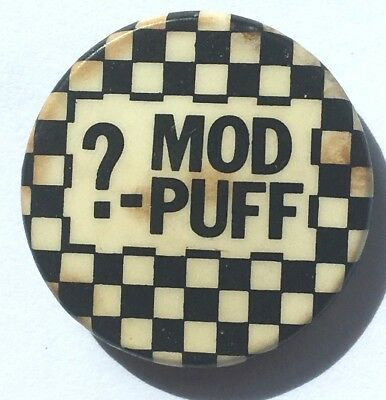 MOD PUFF? Old OG Vtg 70/80`s Button Pin Badge SKA(not punk MOD 2Tone skinhead)