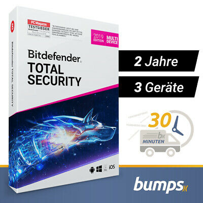 Bitdefender Total Security Multi Device 2019 - 3 Geräte & PC | 2 Jahre + VPN