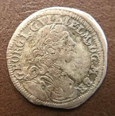 1720 Great Britain Hammered Medieval Silver Coin Beautiful Original Condition!