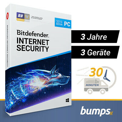 Bitdefender Internet Security 2019 / 2020 - 3 PC (Windows) | 3 Jahre / 1095 Tage