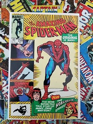 The Amazing Spider-Man #259 /Full Hobglobin app (Dec 1984, Marvel)
