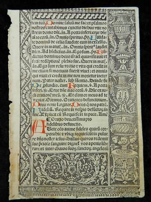 Stundenbuch Metallschnitt Blatt Paris Simon Vostre 1510 Book Of Hours Leaf