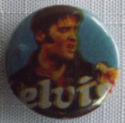 "ELVIS PRESLEY Vintage 1980`s Button Pin Badge (25mm-1"") #EP106"