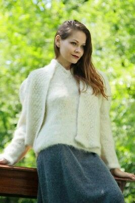 MOHAIR SWEATER & CARDIGAN with WOOL SKIRT