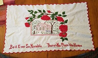 Embroidered Tablecloth  Beautiful Red Roses