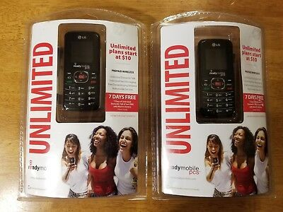 Lg Readymobile Pcs Unlimited Cellphone Lot Of 2 New Free Shipping