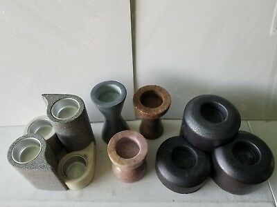 Stoneware Partylite Tealight Votive Candle Holders