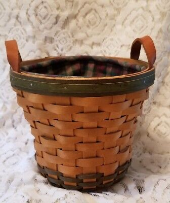Longaberger 2000 Golf Club Basket, Protector, and Liner with authenticity