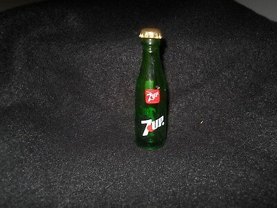 7up Vintage 3 in. bottle with top
