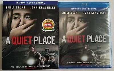 New A Quiet Place Blu Ray Dvd 2 Disc Set & Slipcover Sleeve Free World Shipping