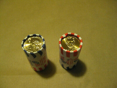 Lincoln 2010 $1 coin  $25 rolls 2010 P & D