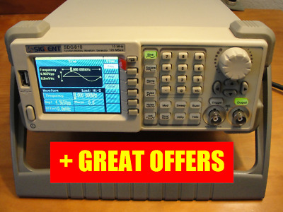 Siglent SDG810 Dds Function Signal Arbitrary Waveform Generator 10Mhz, + Offers