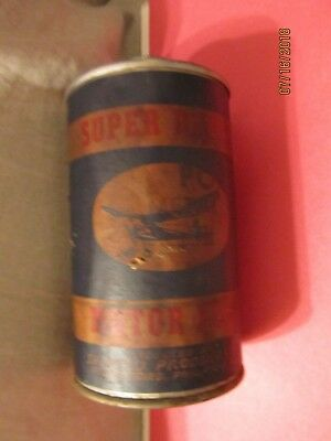 Super Duper Motor Fuel 1 Pint Paper Label Tin Can 1/2 Full by Sportco Products