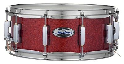 """Pearl Masters Complete MCT 14"""" X 5.5"""" Snare Drum/#346/Vermillion Sparkle/New"""