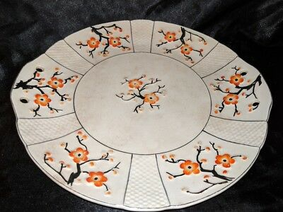 Vintage Japan hand painted Floral Flower Amazing Decorative Plate or Wall Plaque