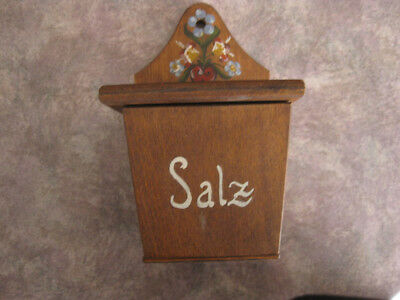 Handmade Germany Box with painted flowers - Excellent condition
