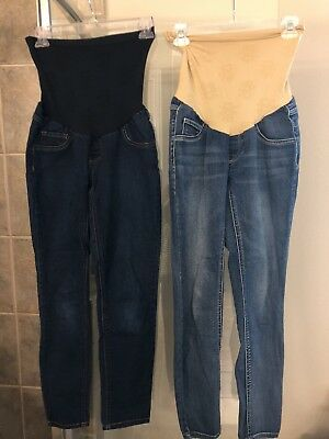 Jessica Simpson Maternity Skinny Stretch Sz PS Petite Small Lot of 2