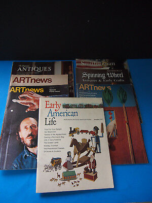 Antiques & collectibles magazine lot ART NEWS SPINNING WHEEL SMITHSONIAN