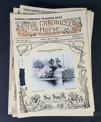 Large Lot The Chronicle of the horse Magazines 1979-1999 equestrian rider stud