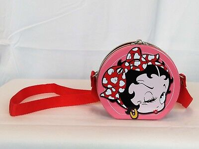 Winking Betty Boop Small Collectible Tin Box/Carry Case with strap 1998