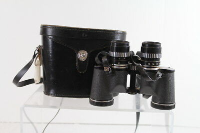 Vintage Penncrest Zoom Fully Coated Binoculars & Leather Case No. 081074