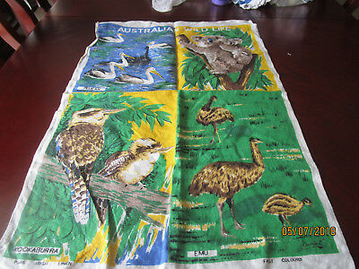 Pure Iris Linen Tea Towel - Australian Wildlife