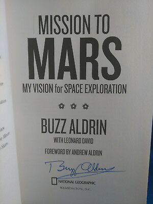 **AUTOGRAPHED** Buzz Aldrin Mission to Mars **Signed** First Edition Hardcover