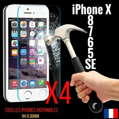 Lot Vitre Protection Verre Trempé Film Protecteur Écran Iphone 4/5/6/s/plus/7/8