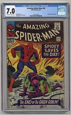Amazing Spider-Man #40 - CGC 7.0 - OW/W Pages - Origin of the Green Goblin