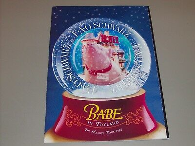 1998 Holiday FAO Schwarz Toy Catalog Holographic Babe Issue RARE *LOOK*