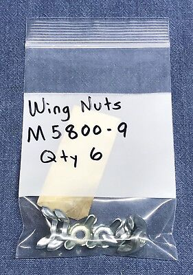 QTY (6) Wing Nuts M5800-9