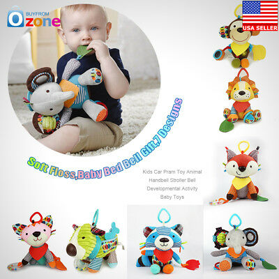 Kids Car Pram Toy Animal Handbell Stroller Bell Developmental Activity Baby Toys