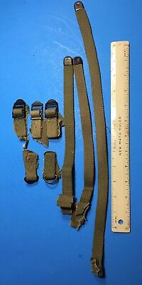 ORIGINAL!!! Surplus WWII US ARMY Salvaged Haversack Web Straps & Hardware