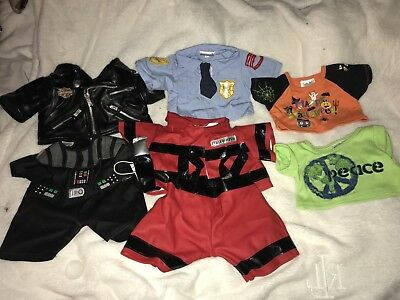 BUILD A BEAR Lot of 14 Pieces Clothing Harley Davidson Jacket & Accessories