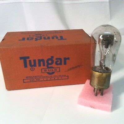 Vintage Tungar 16X897 Light Bulb made in the USA, not tested with Orange box