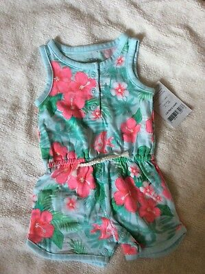 Carter's New Born Baby Girls' Hawaii Print one piece NWT