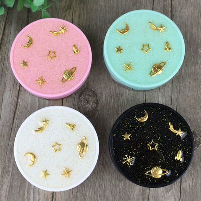Contact Lens Box Star Round With Mirror Travel Portable Case Storage Container