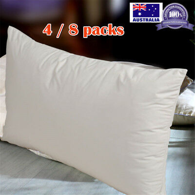4x Waterproof Pillow Case Protector Cover Zipper Opening Breathable Anti Allergy