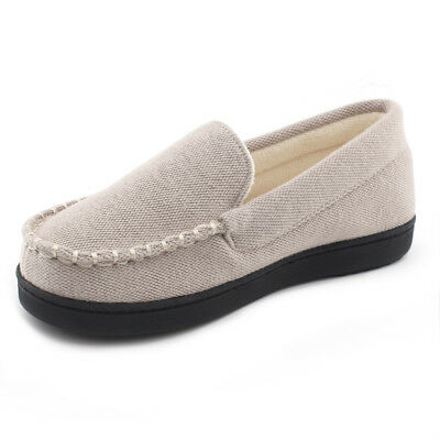 77970785a92 Women s Comfort Memory Foam Moccasin Slippers Fleece Lined House Shoes  Outdoor