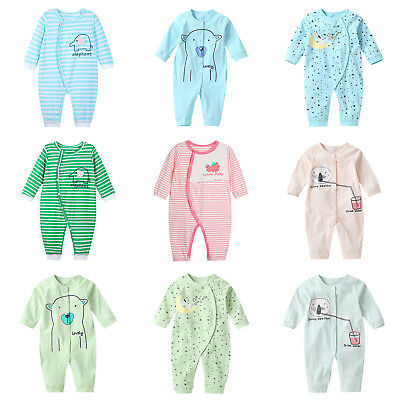 Autumn Boys Girls Baby Romper Cotton Stripe Long Sleeve Loose Jumpsuit Clothes