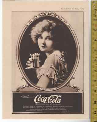 1919 Coke Coca Cola Marion Davies Extra Fine Gem Collectible AD