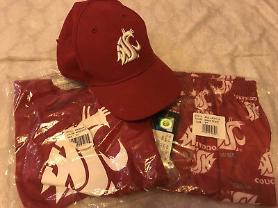 Wsu Cougars Football Game Day Shirt, Pants, & Hat Lot - Toddler 3T