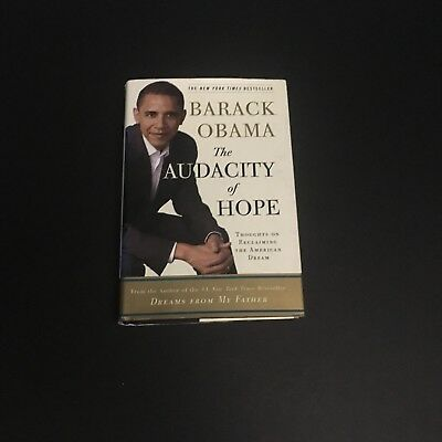 BARACK OBAMA SIGNED AUTOGRAPHED BOOK 1st EDITION ( THE AUDACITY OF HOPE )