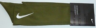 Nike Swoosh Dri Fit Head Tie Headband Army Green 2.0 New Unisex