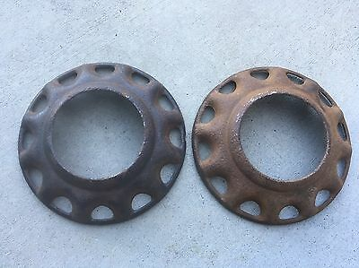 """Very Rare Vintage Accessory Stewart Warner 16"""" Ford Wire Wheel Covers Rat Rod"""