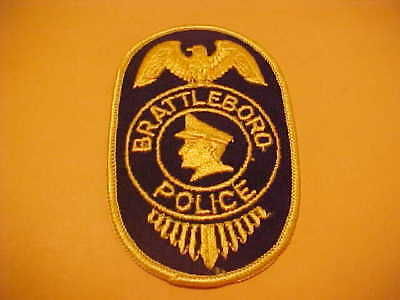 Brattleboro Vermont Police Patch Shoulder Size Unused